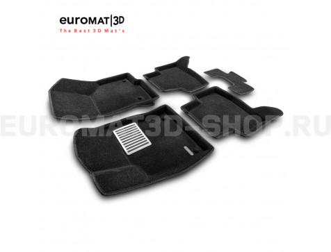 Текстильные 3D коврики Euromat3D Lux в салон для Audi A3 (2014-) № EM3D-004507