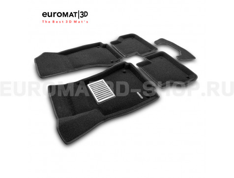 Текстильные 3D коврики Euromat3D Lux в салон для Audi A5 (2010-) Sportback № EM3D-001114
