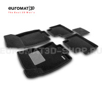 Текстильные 3D коврики Euromat3D Premium в салон для Nissan X-Trail (T32) (2015-) № EMPR3D-003724
