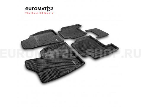 3D коврики Euromat3D EVA в салон для Hyundai Santa Fe (2010-2012) № EM3DEVA-002715