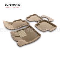 Текстильные 3D коврики Euromat3D Business в салон для Volkswagen Passat B8 (2016-) № EMC3D-004510T Бежевые